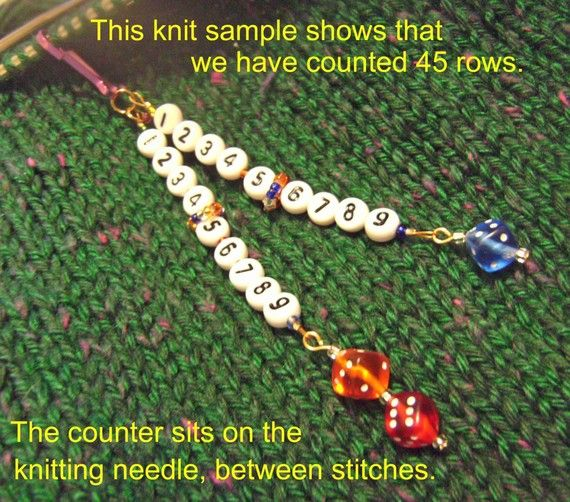 99-Row Combination Knit/Crochet Row Counter, Counting Sheep