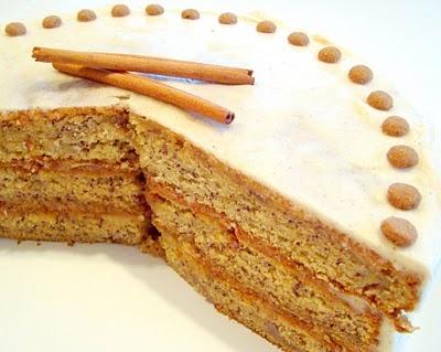 Banana Cake with Honey-Cinnamon Frosting | Cakes | Pinterest