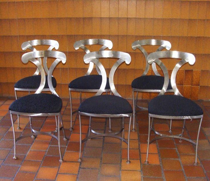 Mid century modern arthur umanoff for shaver howard steel dining chai