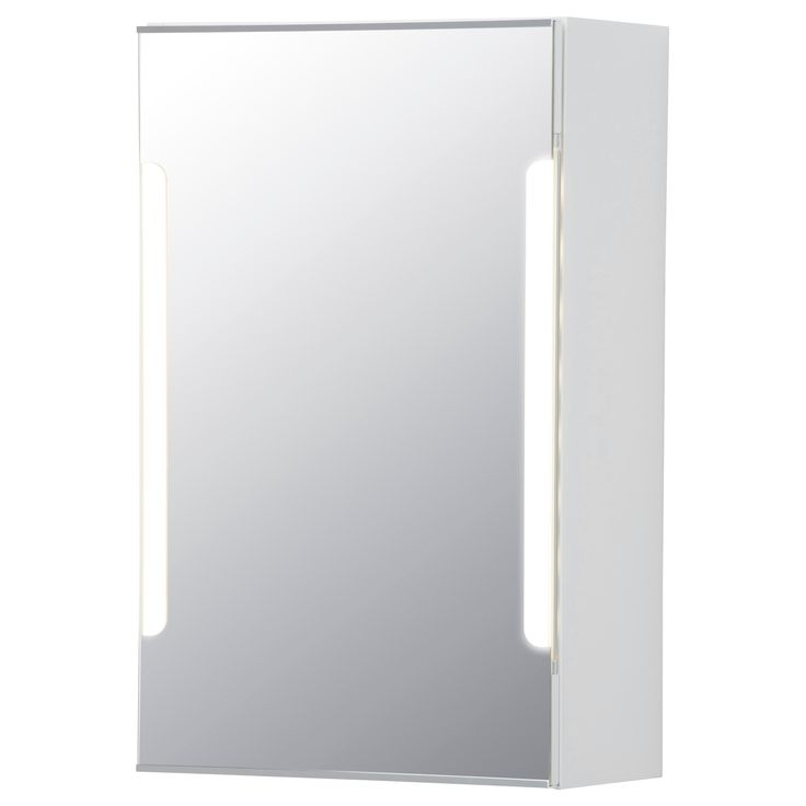 STORJORM Mirror cabinet w/1 door & light - IKEA