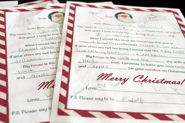elf on the shelf and letter to santa