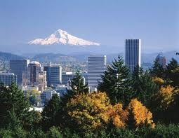 City of Portland under the volcano (dormant), Mount Hood