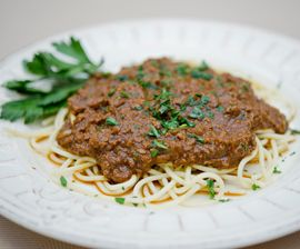 Cincinnati Chili with Spaghetti. (Vegan! Shut the Front Door.)