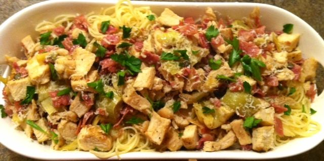 Angel Hair Chicken with Artichokes | recipes | Pinterest