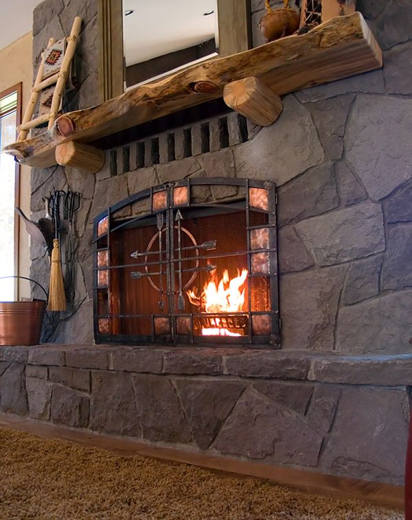 Craftsman Style Fireplace Screen House Ideas Pinterest