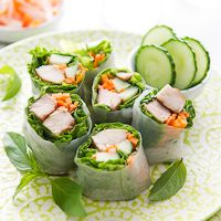 Garlic Chicken Spring Rolls - My Un-Diet from Pleasantly Plump to Zip