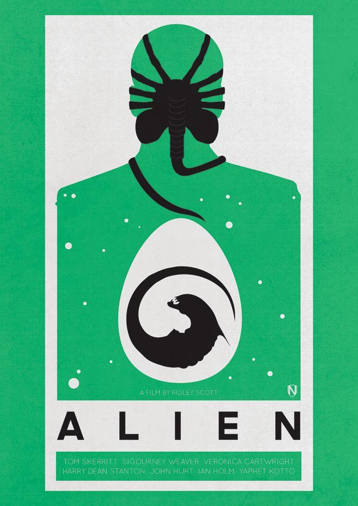 alien print by @needleprint