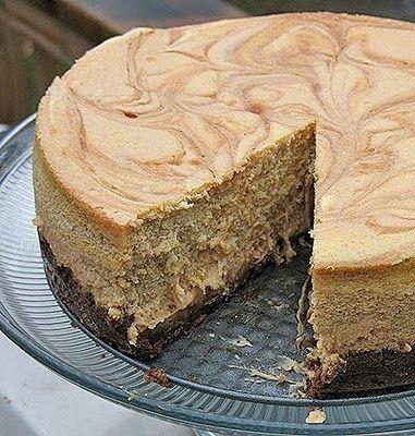 Swirled Caramel and Pumpkin #Cheesecake Supreme