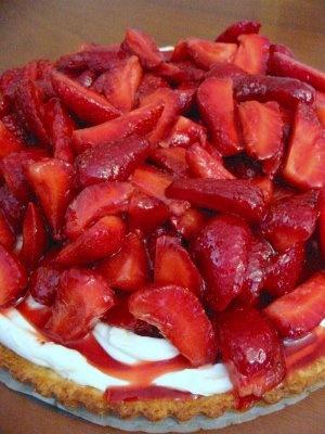Wish Upon A Chef: Strawberry Mascarpone Tart with Port Glaze