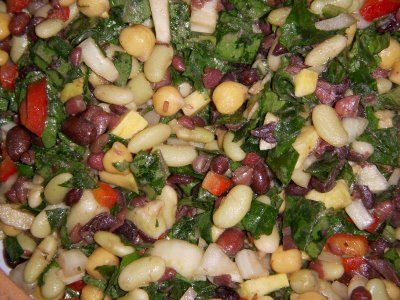 Bean and Kale salad, just made this with some minor alternations, very ...