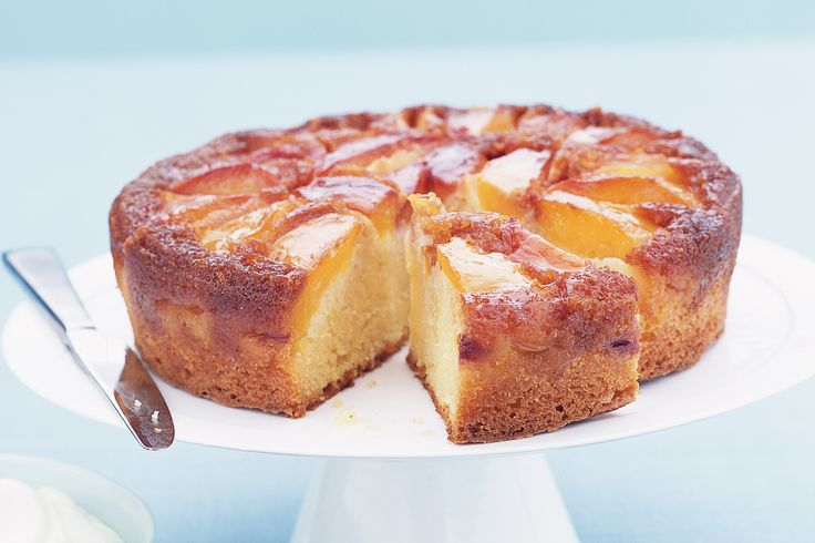 Upside down peach cake | Cakes and Cheesecakes | Pinterest