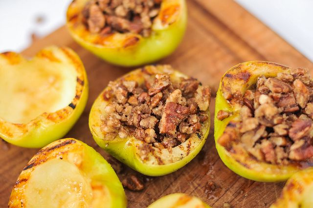 Pecan Stuffed Apples with Caramel Sauce | Recipe
