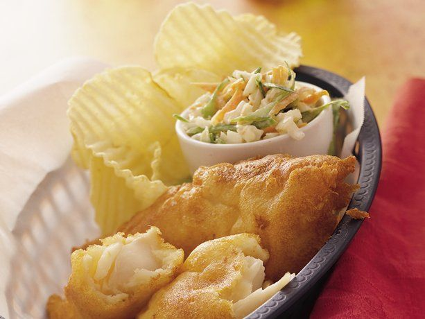 Beer-Battered Fish - Fish & Chips, baby!! Hold the tartar sauce, pass ...