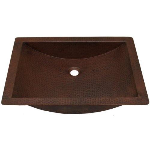 Shallow Apron Sink : 22 inch Copper Bath Shallow Trough Sink Rustic Bathrooms Pinterest