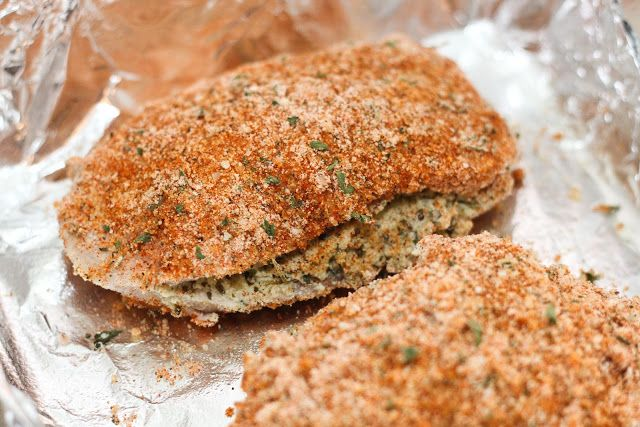 Dukely: Stuffed Pesto Pork Chops Breaded in Paprika and Parmesan ...