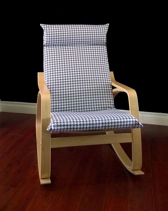 Houndstooth grey by rockincushions 79 00 makeover your chair with