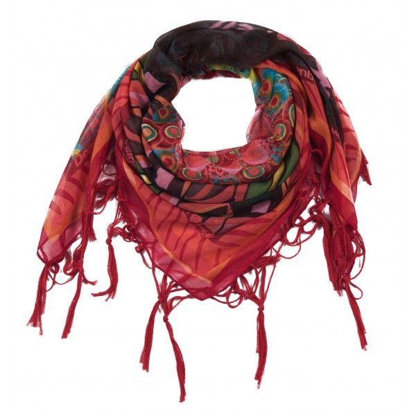 foulard pour femme desigual mod le seducci un grand foulard super color avec un imprim. Black Bedroom Furniture Sets. Home Design Ideas