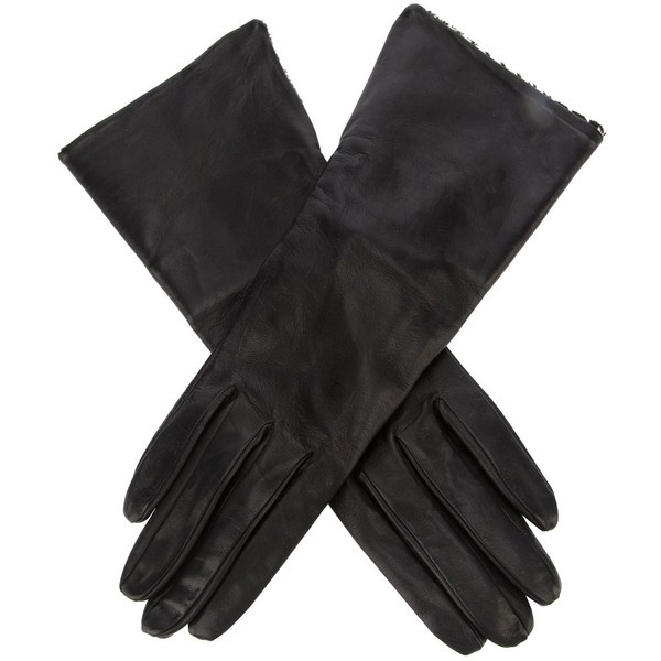 MAX MARA Long leather gloves ($255) liked on Polyvore