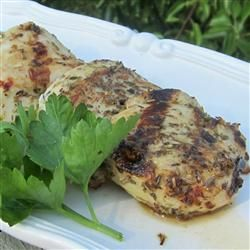 Grilled Chicken and Herbs -Combine Rosemary, thyme, oregano, garlic, S ...