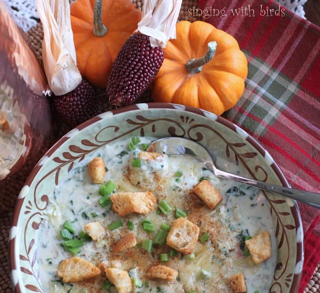 Cheesy Chicken Spinach-Artichoke Soup | Souper Yummy | Pinterest