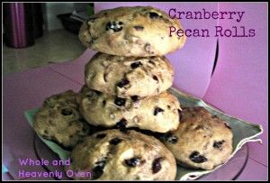 Cranberry Pecan Rolls: Soft yeast rolls studded with plump, dried ...