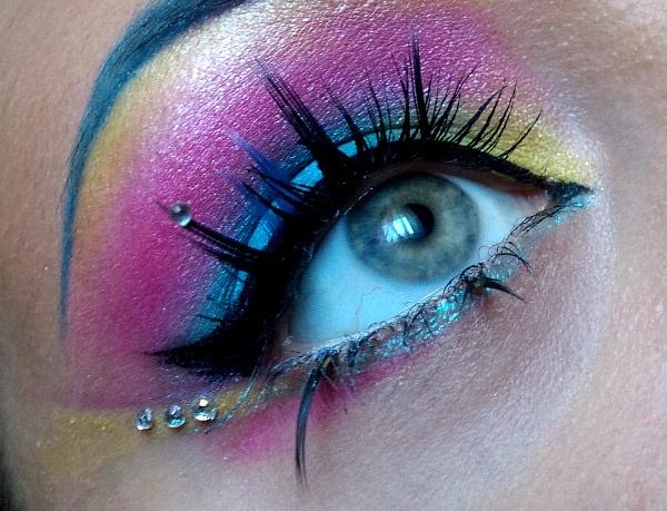 Colorful Halloween Makeup Pinterest - Colorful Halloween Makeup