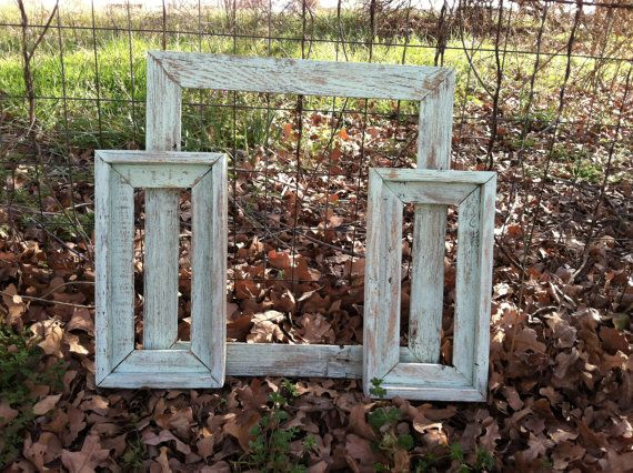 ... Wood Empty Frame Group, Mint Green Shabby Chic Decor, Open Frame