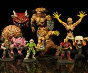 Doom Actionfigures Mini on Food Related Toys Models