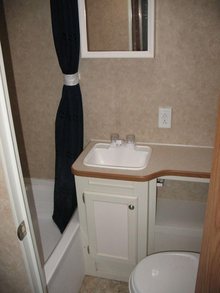 Before Bathroom Travel Trailer Remodel Pinterest
