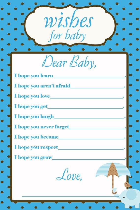 printable wishes for baby baby shower by elliebluedesigns on etsy 6