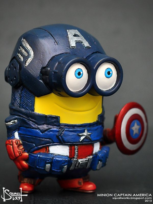 Minion Captain America Amigurumi : Captain America minion. Marvel things Pinterest