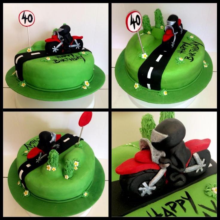 Motorbike 40th Birthday Cake Kids birthday cake Pinterest