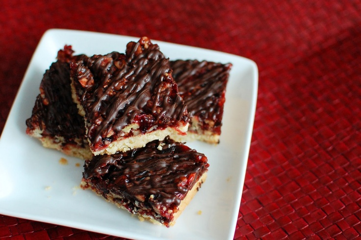 Cranberry Turtle Bars. I could Making These With White Chocolate.