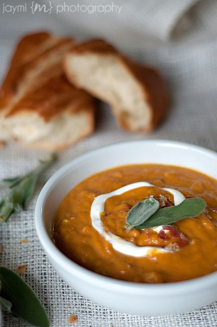 Pumpkin Soup with Pancetta and Sage | Soups | Pinterest