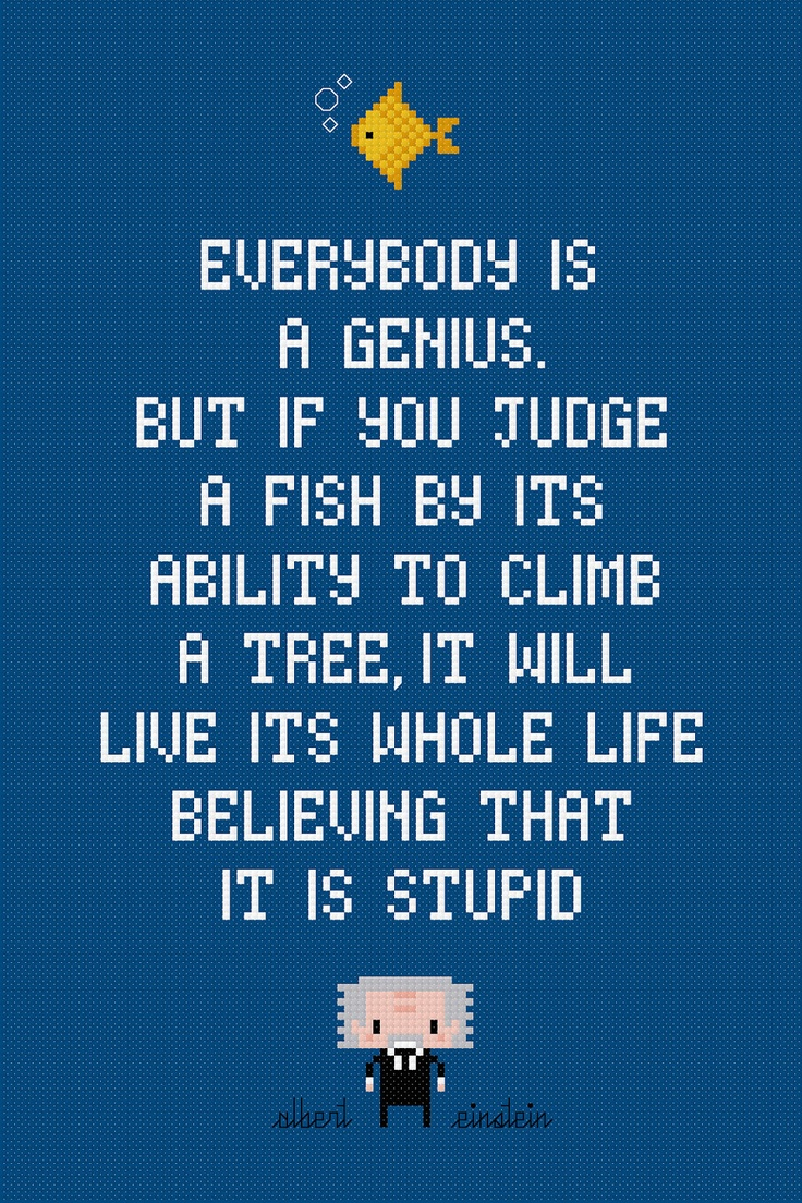 By albert einstein quotes about fish quotesgram for Quotes about fish