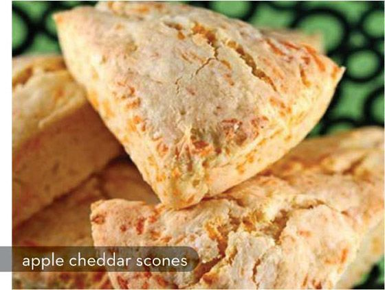 Apple cheddar scones (and other scone recipes).