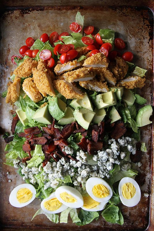 Oven Fried Chicken Cobb Salad by Heather Christo