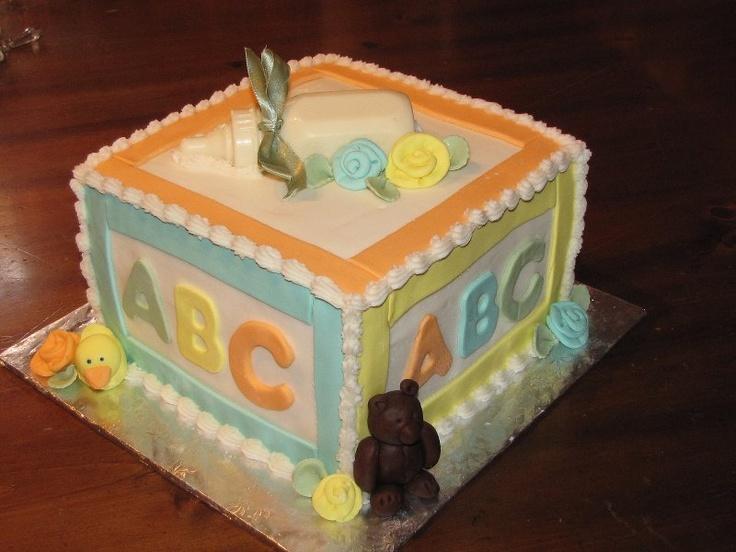 Baby Block Cake Images : baby block cake baby shower Pinterest