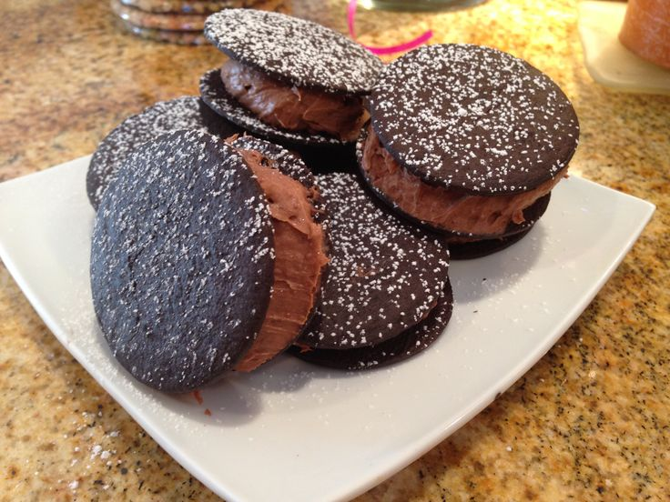 Double Chocolate Custard Whoopie Pies | Desserts & Cookies | Pinterest