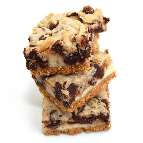 Chocolate chip cookie dough cheesecake bars. You heard correctly.