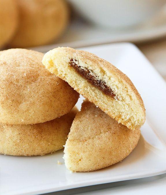 Biscoff Stuffed Snickerdoodles | Biscoff | Cookies | Pinterest