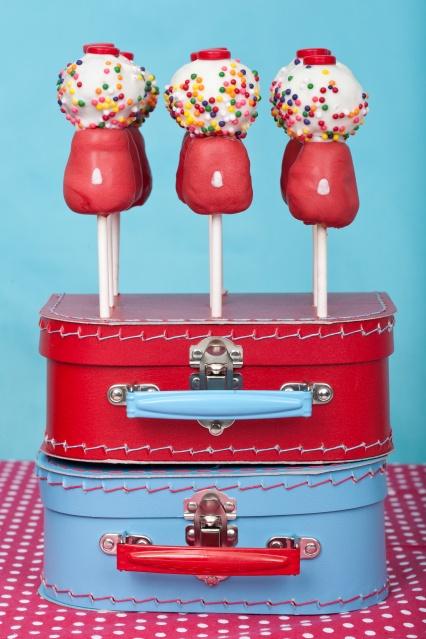 gumball cake pops