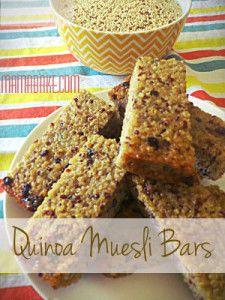 quinoa Muesli Bars | Food.School Lunch | Pinterest