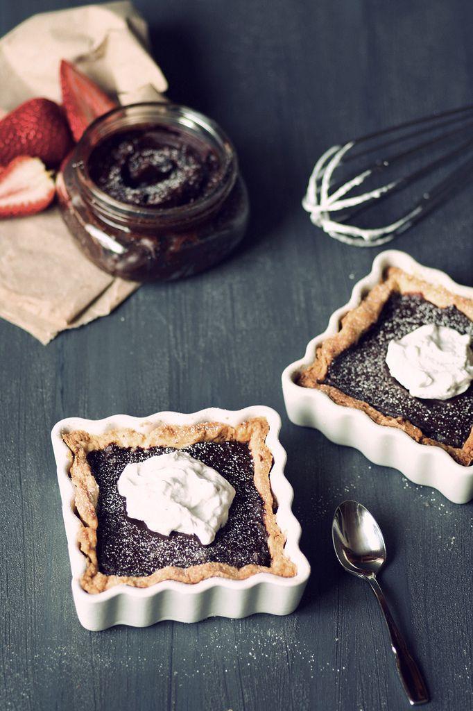 Chocolate truffle tart | food | Pinterest