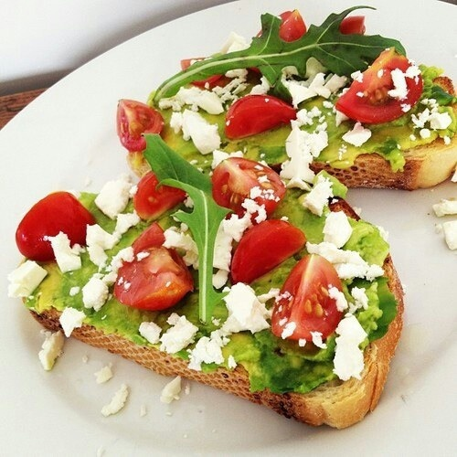 Tomato avocado and cheese toast | YuMMaBLeS | Pinterest