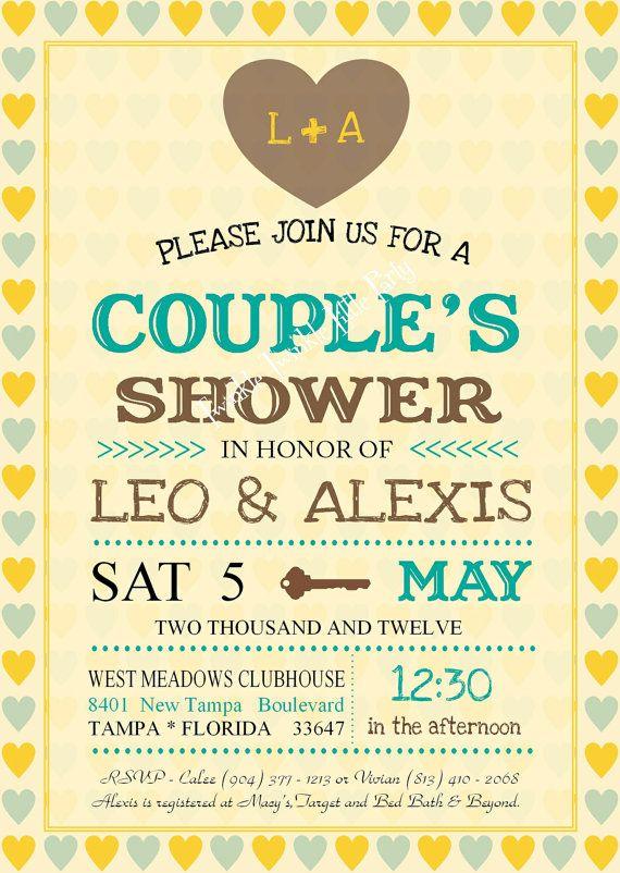Vintage wedding shower couples shower jack and jill for Wedding couples shower invitations