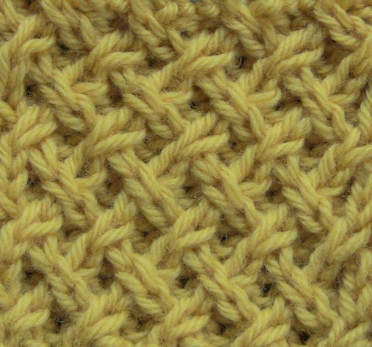Knitting Quilted Lattice Stitch : Tight Lattice Stitch The Weekly Stitch Knitting - stitches Pint?