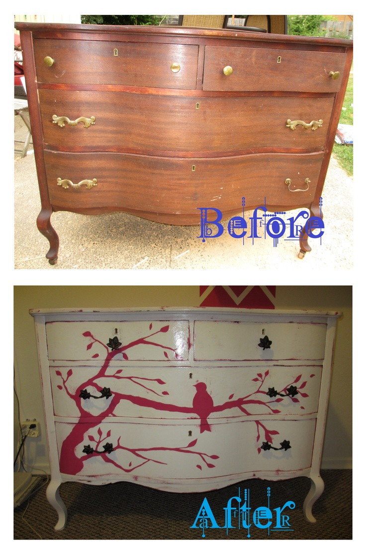 Dresser make over hand painted furniture ideas pinterest for Hand painted furniture ideas