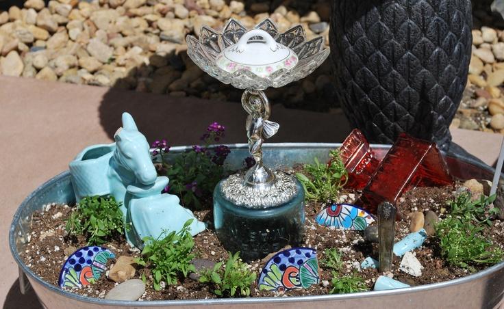 little garden in a wash tub | Lawn and Garden | Pinterest