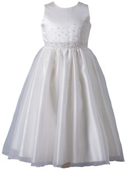 White flower girl dresses uk
